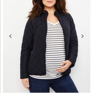 Maternity Puffer Quilted Coat